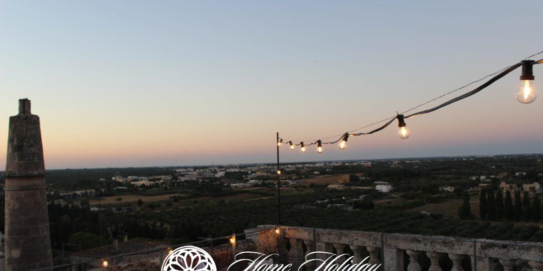 Terrazza Palazzo Risolo al tramonto
